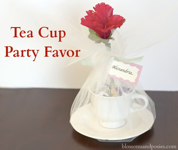Tea cup party favor blossoms and posies for Teacup party favors