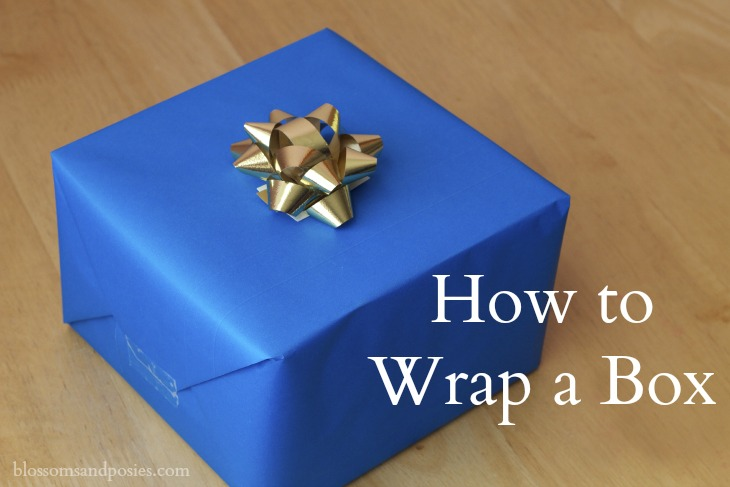 How to gift wrap a box for How to wrap presents with wrapping paper