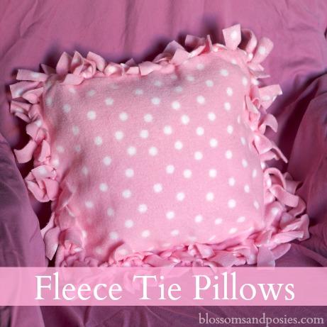 Fleece Tie Pillows Blossomsandposies