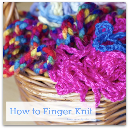 How To Finger Knit And A Yarn Giveaway