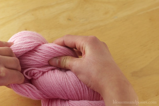 how to find the end of a skein