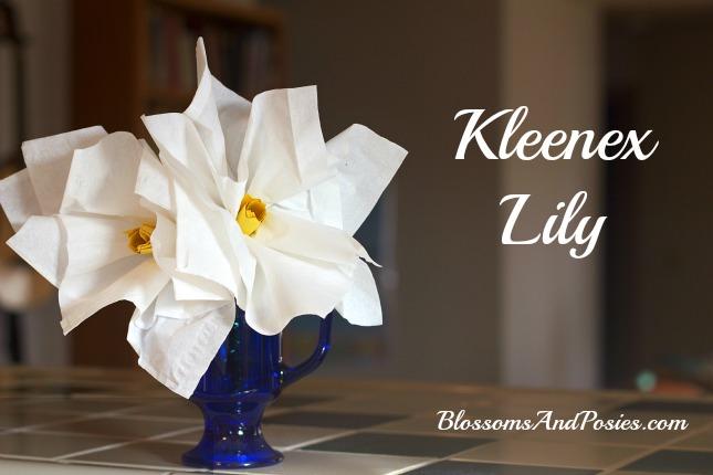 Kleenex Lily Flower Craft - BlossomsAndPosies.com
