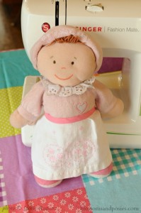 doll with apron - blossomsandposies.com