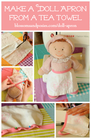 How to Make a Doll Apron from a Tea Towel