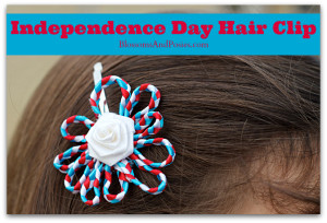 independence day hair clip - blossomsandposies.com