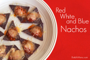 red white and blue nachos - blossomsandposies.com