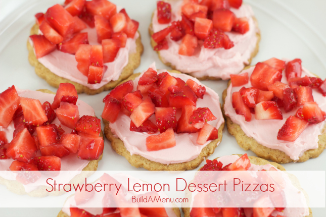 Strawberry Lemon Dessert Pizzas - BlossomsAndPosies.com