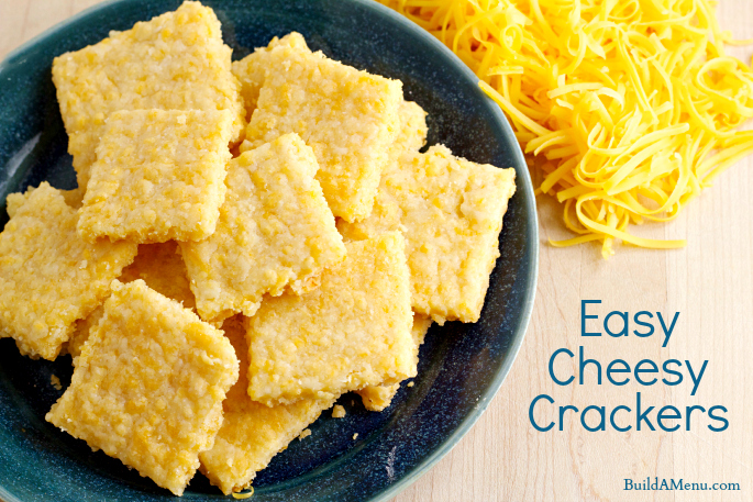 Easy Cheesy Crackers - BlossomsAndPosies.com