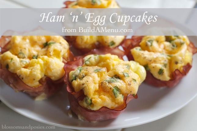 Ham 'n' Egg Cupcakes - blossomsandposies.com/blog/ham-n-egg-cupcakes/
