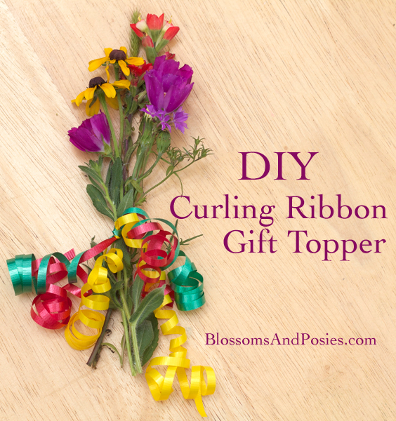 Expensive Birthday Flowers: DIY Curling Ribbon Gift Topper