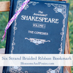 Six Strand Braided Ribbon Bookmark from BlossomsAndPosies.com