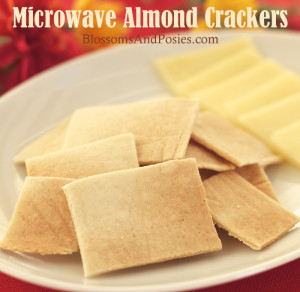 Microwave Almond Crackers: super easy, only three ingredients, and made in the microwave! #trimhealthymama #glutenfree #gf #thm