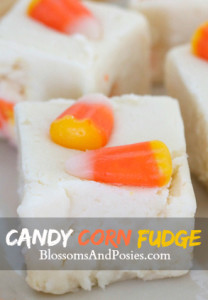 White Chocolate Candy Corn Fudge - a great way to use left over candy corn.