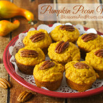Moist pumpkin pecan muffins bring the taste of fall to your tea party or breakfast table