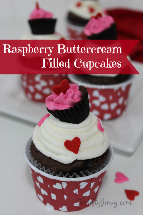 Try these Raspberry Buttercream Filled Cupcakes at your next tea party!