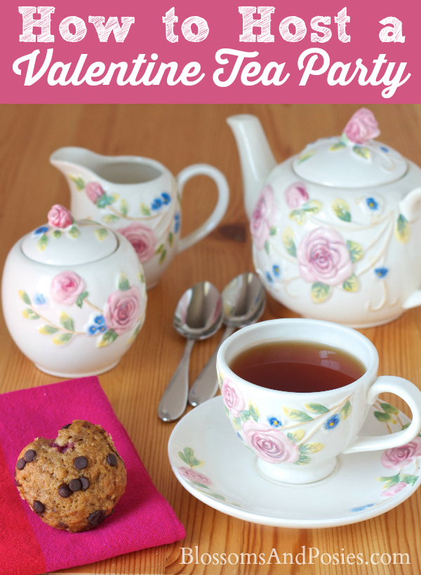 Throw together an easy tea party for friends, or for the people you love right in your house!